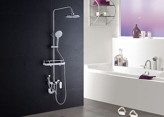 China ROVATE Single Handle Bathroom Shower Set High Strength With Shampoo Shelf supplier