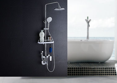 China Triple Function Bath Shower Set Rainfall And Adjustable Handheld Head ROVATE supplier