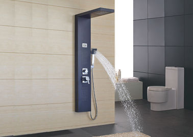 China Outdoor Free Standing Shower Panel System ROVATE Brushed Surface Finishing supplier